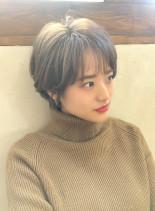 韓国風シースルーショート(髪型ショートヘア)