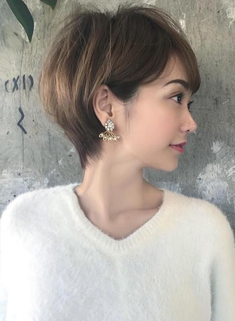 ☆大人小顔ショートボブ☆30代・40代(ビューティーナビ)