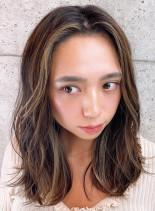 ポイント3Dラフカール(髪型セミロング)