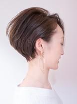 長め前髪×耳掛けで大人ハンサムショート(髪型ショートヘア)