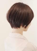 お手入れ簡単前下がりショートボブ(髪型ショートヘア)