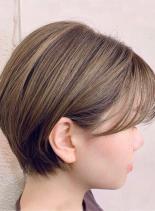 外国人風ベージュ×ショート(髪型ショートヘア)