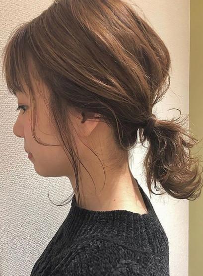 ミディアムアップ(髪型ミディアム)