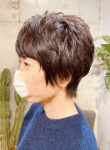 ショートカットくせ毛バージョン(髪型ショートヘア)