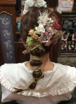 成人式アップ(髪型セミロング)
