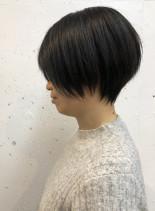 大人可愛いショートボブ(髪型ショートヘア)