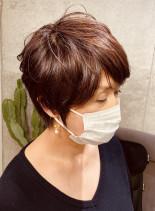ショートカット カラーリング(髪型ショートヘア)