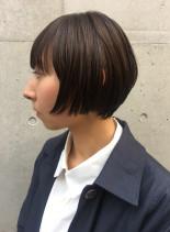 美シルエットミニマムショートボブ(髪型ショートヘア)