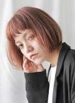スタイリング簡単インナーカラーミニボブ(髪型ボブ)