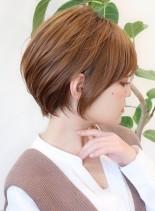 30代からのお手入れ簡単ショートボブ(髪型ショートヘア)
