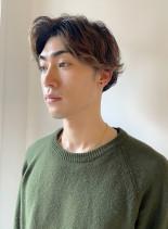 2ブロックのパーマスタイル(髪型メンズ)