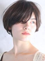 ひし形◇ふんわりボリュームショートボブ(髪型ショートヘア)