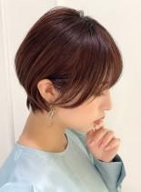 大人上品な美人ショートヘア(髪型ショートヘア)