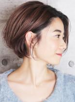透明感カラーふんわりショートボブ(髪型ボブ)
