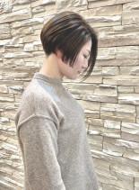 30代40代50代小顔ショートヘアー(髪型ショートヘア)
