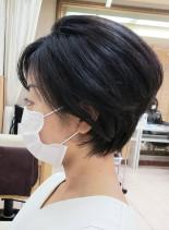 30代40代50代◎小顔ひし形ショート(髪型ショートヘア)