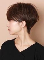 白髪ぼかしハイライト☆大人ショート(髪型ショートヘア)