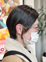 ツヤ髪ショートボブ(髪型ショートヘア)