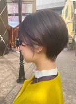 お洒落インナー◎小顔丸みショートヘア(髪型ショートヘア)