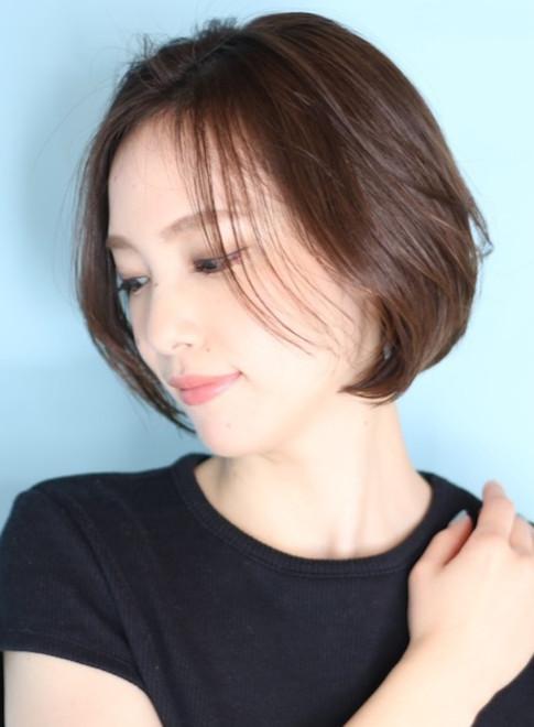 40代50代大人の耳掛けショートボブ☆(ビューティーナビ)