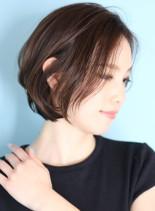 40代50代大人の耳掛けショートボブ☆(髪型ボブ)