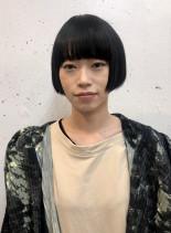 リップラインのミニボブ(髪型ショートヘア)