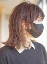 ミディウルフ(髪型ミディアム)