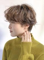 スタイリング簡単☆ウェーブパーマショート(髪型ショートヘア)