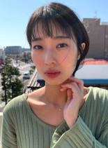 黒髪でもお洒落☆コンパクトショート(髪型ショートヘア)