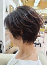 40代50代60代◎大人くびれショート(髪型ショートヘア)
