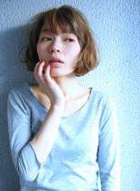 40代からのシンプルパーマボブ(髪型ボブ)