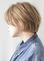 スタイリング簡単人気小顔ショートボブ(髪型ボブ)