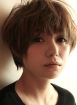40代からの手入れ簡単ショートパーマ(髪型ショートヘア)