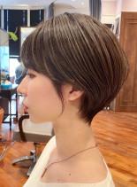 艶感丸みマッシュショートヘア(髪型ショートヘア)