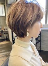 30代40代/トップふんわりショートボブ(髪型ショートヘア)