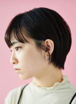 人気ランキング大人の耳掛けショート(髪型ショートヘア)