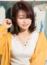 耳掛け大人ガーリー(髪型ミディアム)