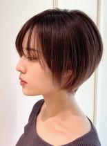 乾かすだけで決まる☆大人上品ショート(髪型ショートヘア)