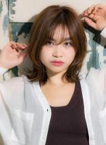 小顔効果フレーミングレイヤー◎(髪型ミディアム)