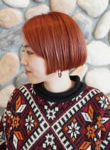 マッシュボブ ☆ マンダリンオレンジ(髪型ショートヘア)