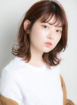 おしゃれ女子☆耳掛け小顔セミディ◎(髪型ミディアム)