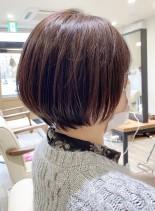 まるみシルエットショートボブ(髪型ショートヘア)