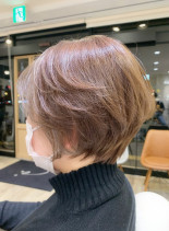 おさまる襟足ショート(髪型ショートヘア)