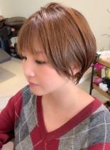 大人可愛いハイトーンショート(髪型ショートヘア)