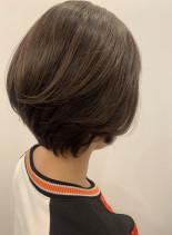 40代50代大人女性ショートボブ(髪型ショートヘア)