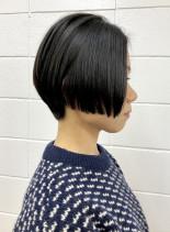 クールでかっこいいシンプルな大人ショート(髪型ショートヘア)