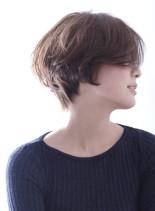 くせ毛風パーマ☆大人のショートボブ(髪型ショートヘア)