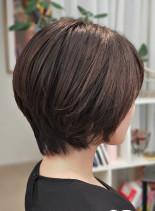 30代40代に似合うショートボブ(髪型ショートヘア)