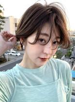 ワンカールショートボブ(髪型ショートヘア)