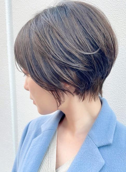 倉科カナさん風☆小顔ひし形ショートボブ(ビューティーナビ)